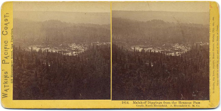 Watkins #1814 - Malakoff Diggings from the Henness Pass Grade, North Bloomfield