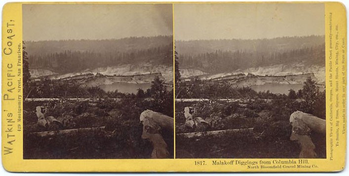 Watkins #1817 - Malakoff Diggings from Columbia Hill, North Bloomfield Gravel Mining