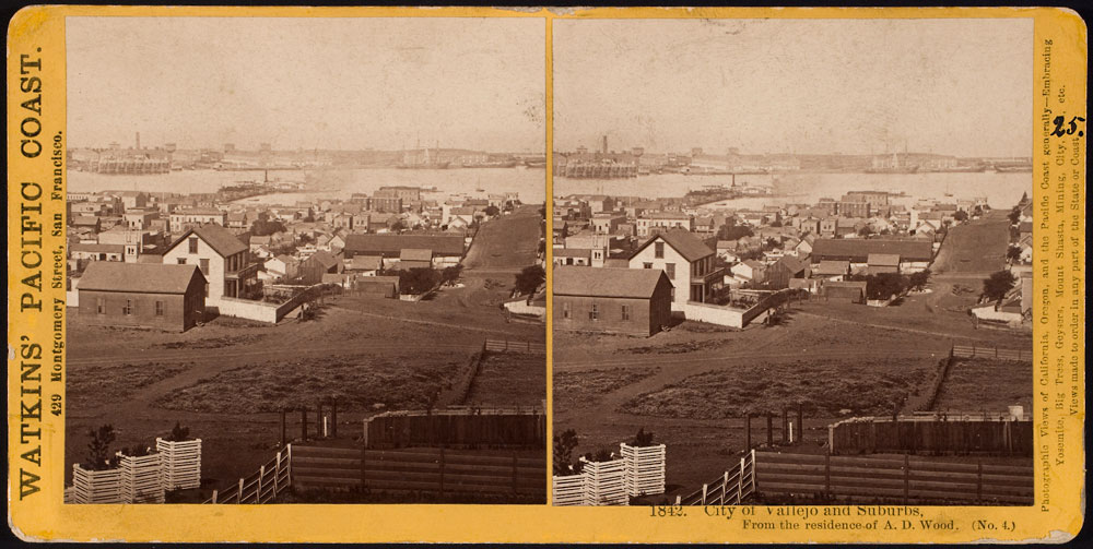 Watkins #1842 - City of Vallejo and Suburbs, From the residence of A.D. Wood. (No. 4)