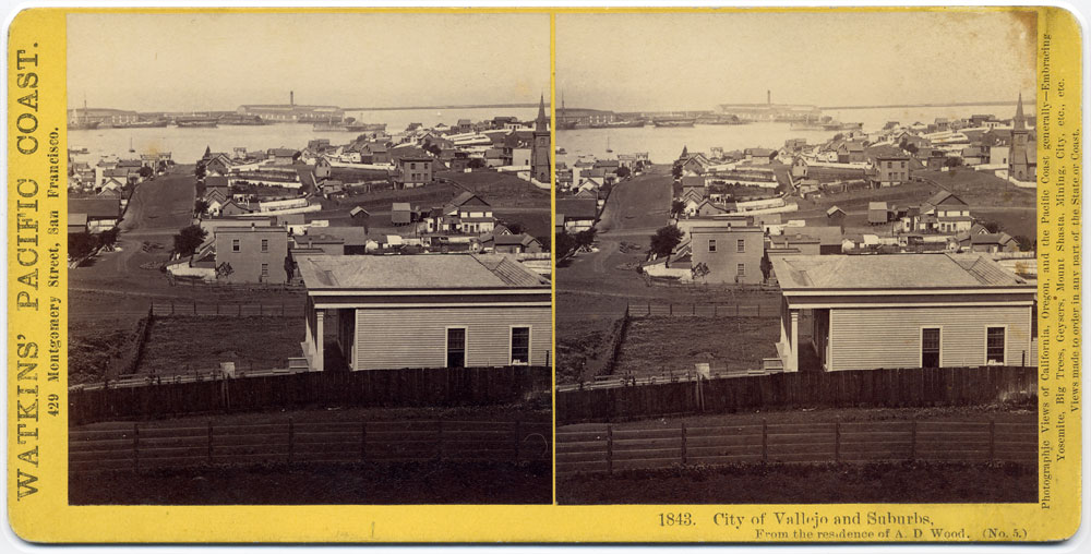 Watkins #1843 - City of Vallejo and Suburbs, from the residence of A.D. Woods (No. 5)