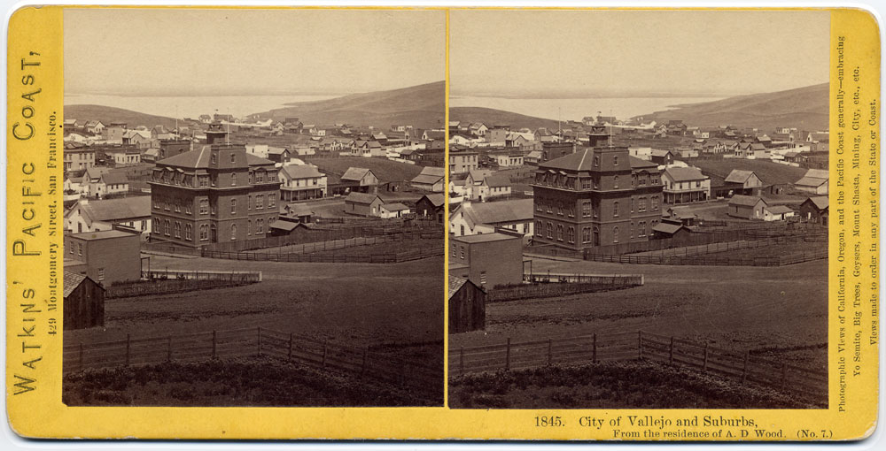 Watkins #1845 - City of Vallejo and Suburbs. From the residence of A.D. Wood. (No. 7)