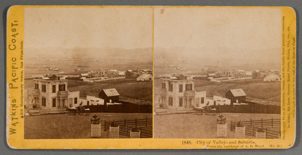 Watkins #1848 - City of Vallejo and Suburbs. From the residence of A.D. Wood. (No. 10)