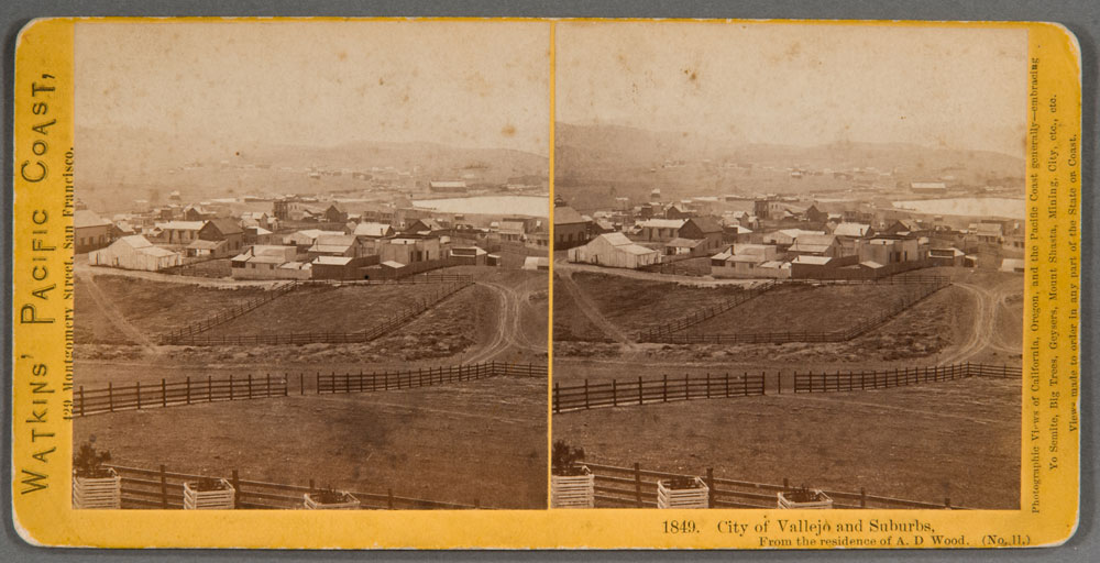 Watkins #1849 - City of Vallejo and Suburbs. From the residence of A.D. Wood. (No. 11)