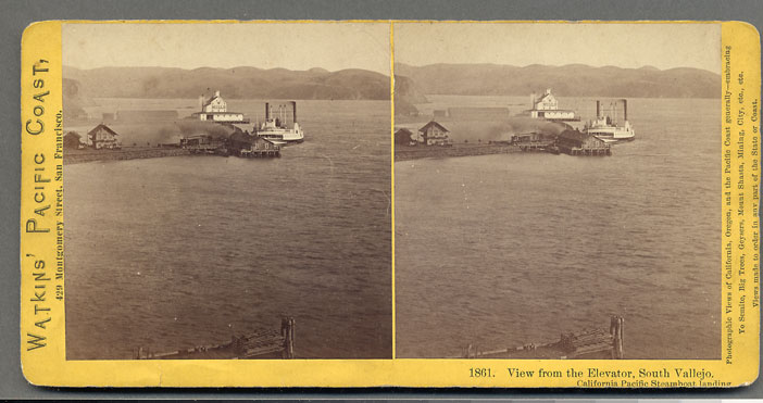 Watkins #1861 - View from the Elevator, South Vallejo. California Pacific Steamboat Landing
