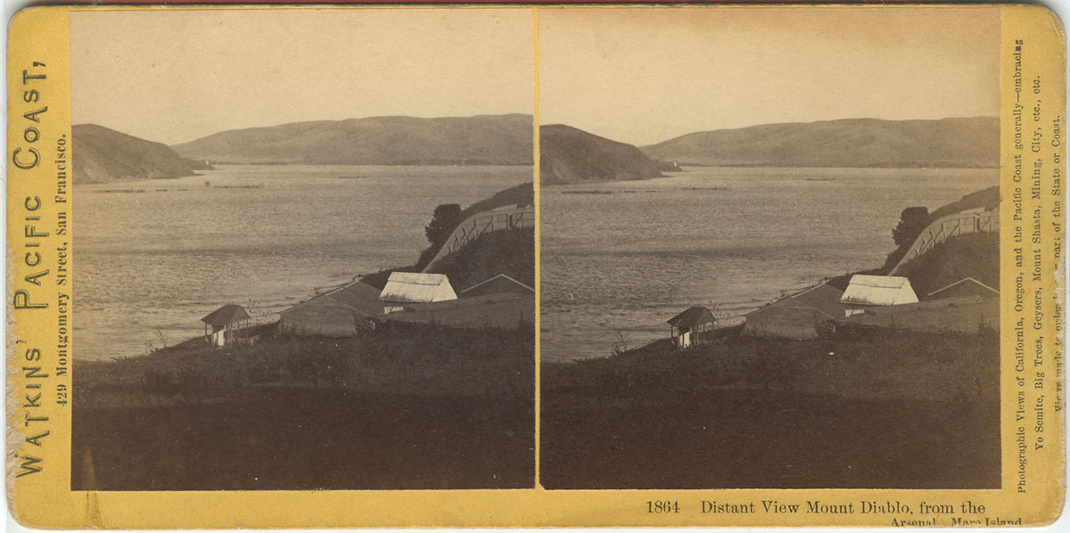 Watkins #1864 - Distant View Mount Diablo, from the Arsenal, Mare Island