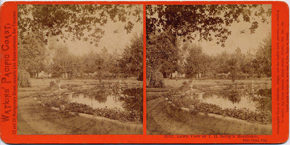 Watkins #1912 - Lawn View at T. H. Selby's Residence, Fair Oaks, Cal.