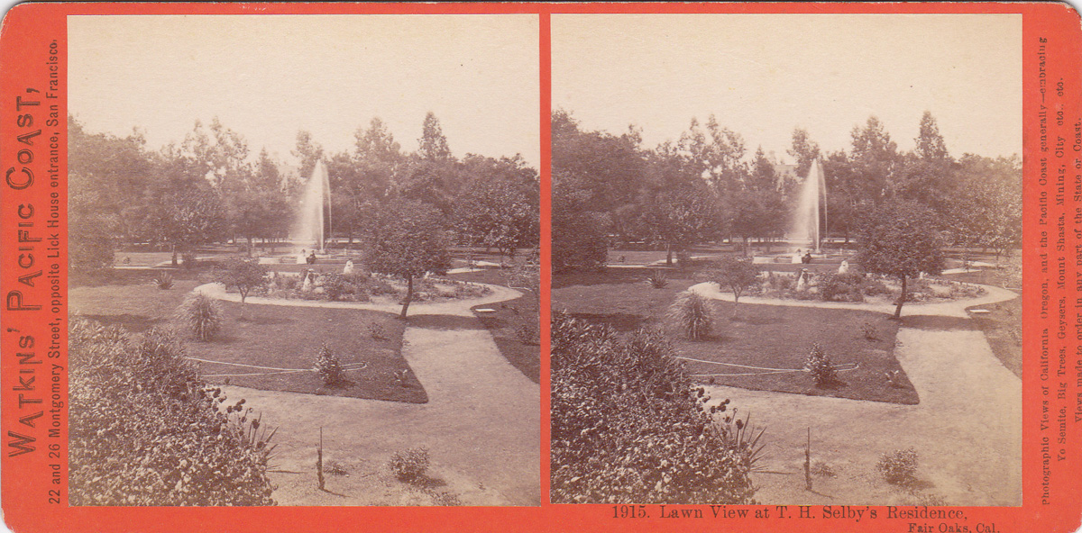 Watkins #1915 - Lawn View at T. H. Selby's Residence, Fair Oaks, Cal.