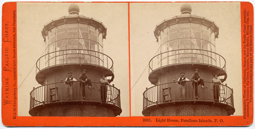 #2001 - Light House, Farallone Islands, Pacific Ocean