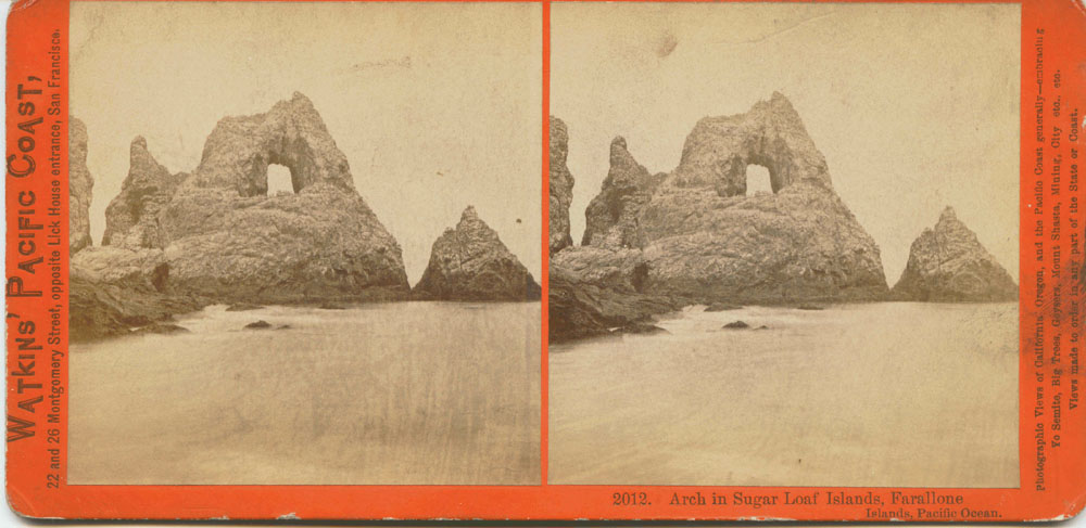 Watkins #2012 - Arch in Sugar Loaf Islands, Farallone Islands, Pacific Ocean