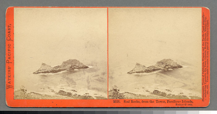 Watkins #2026 - Seal Rocks, from the Tower, Farallone Islands, Pacific Ocean