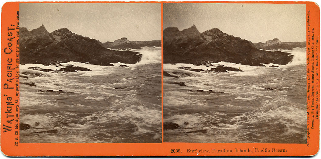 Watkins #2038 - Surf View, Farallone Islands, Pacific Ocean