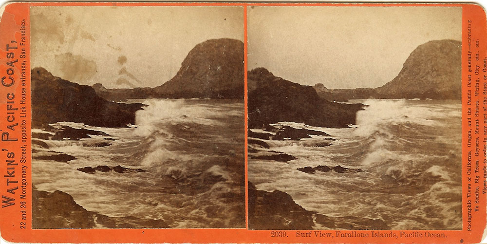 Watkins #2039 - Surf View, Farallone Islands, Pacific Ocean