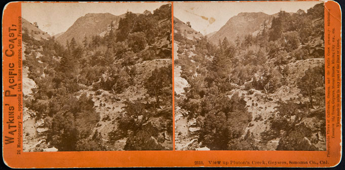 Watkins #2313 - View of Pluton's Creek, Geysers, Sonoma County, Cal.