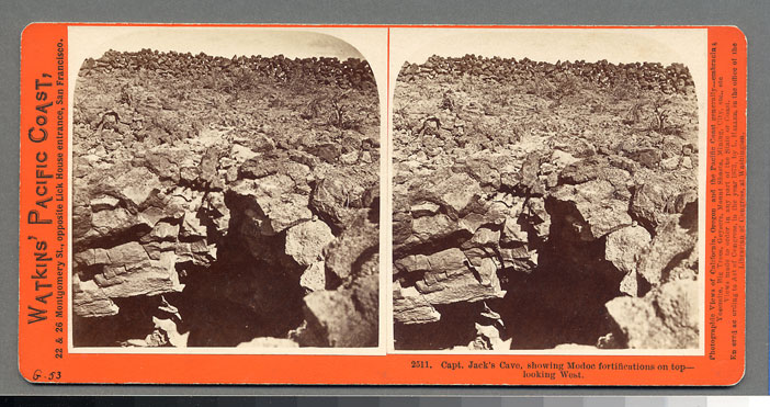 Watkins #2511 - Capt. Jack's Cave, showing Modoc fortifications on top