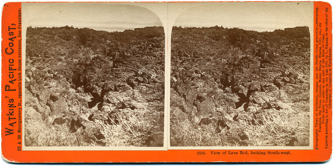 Watkins #2516 - View of Lava Bed, looking South-west.
