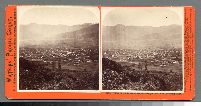 Watkins #2523 - View of the town of Yreka, Siskiyou Co., Cal., looking West
