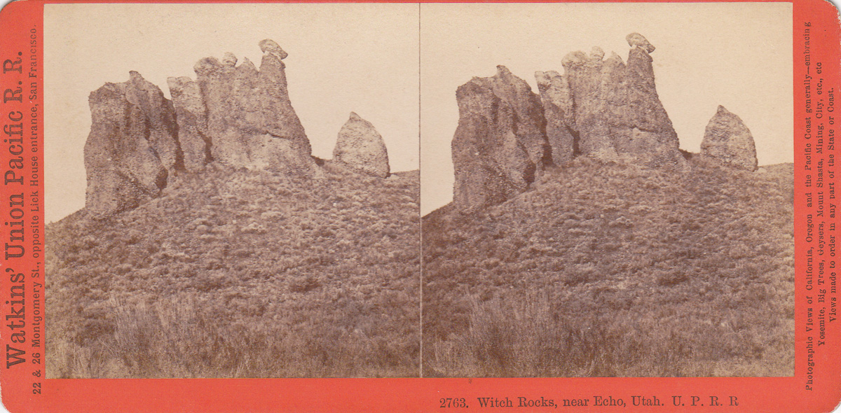 Watkins #2763 - Witch Rocks, near Echo, Utah. U.P.R.R.