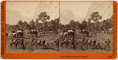 #3133 - Lieut. Wheeler's Party in Yosemite, Mariposa County, Cal.