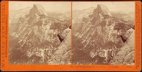 #3157 - The Half Dome, from Glacier Point, Yosemite Valley, Mariposa County, Cal.