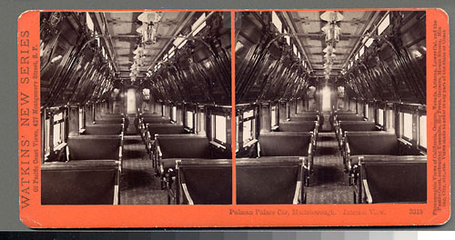 #3315 - Pullman Palace Car Marleborough, interior view.