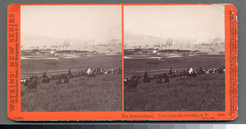 #3584 - The Bombardment, View from the Presidio, July 3, 1876.