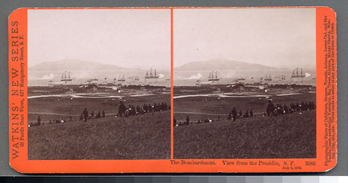 #3585 - The Bombardment, View from the Presidio, July 3, 1876.