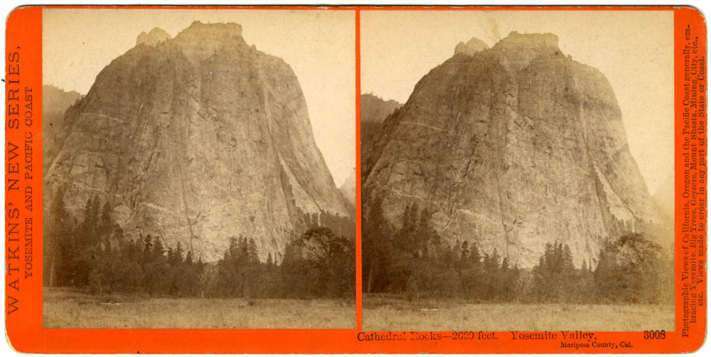 #3008 - Cathedral Rocks - 2600 feet. Yosemite Valley, Mariposa County, Cal.
