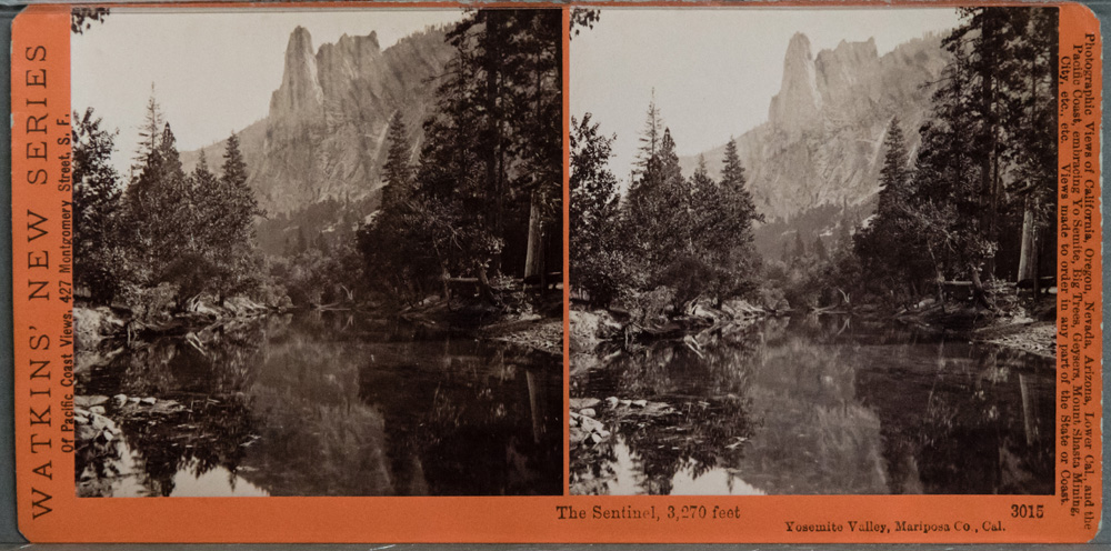 Watkins #3015 - The Sentinal, 3270 feet, Yosemite Valley, Mariposa County, Cal.