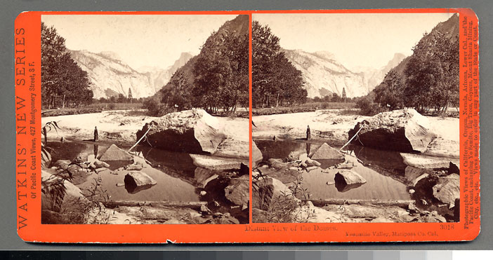 Watkins #3018 - Distant view of the Domes, Yosemite Valley, Mariposa County, Cal.