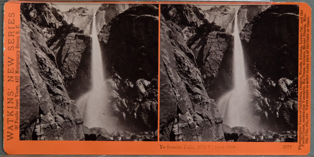 Watkins #3077 - Yo Semite Falls, 2634 ft; near view.