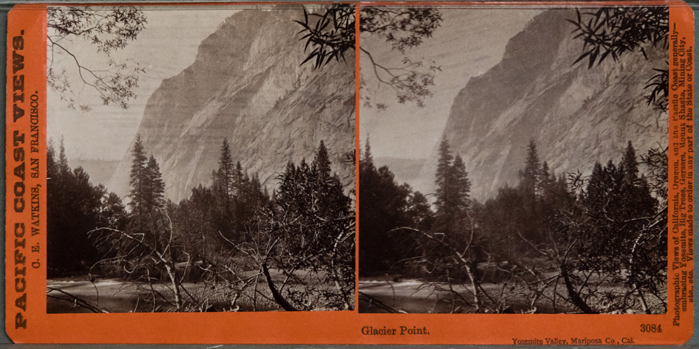 Watkins #3084 - Glacier Point. Yosemite Valley, Mariposa Co., Cal.