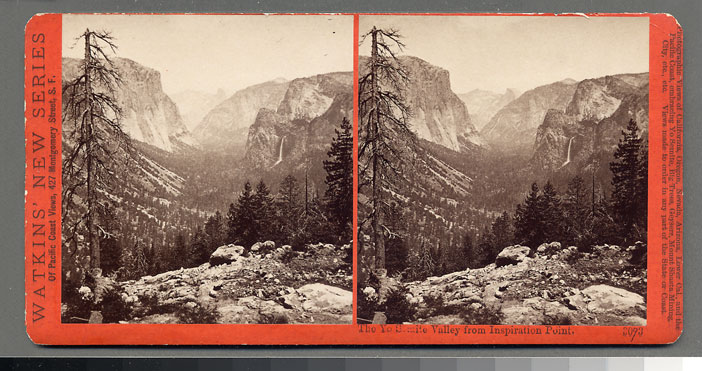 Watkins #3093 - The Yosemite Valley, from Inspiration Point, Yosemite, Mariposa County, Cal.