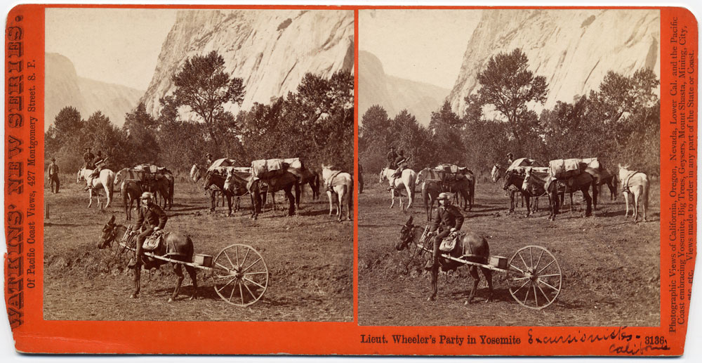 Watkins #3136 - Lieut. Wheeler's Party in Yosemite, Mariposa County, Cal.