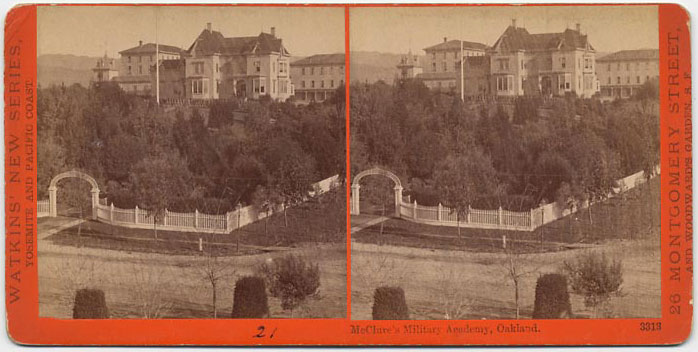 Watkins #3313 - McClure's Military Academy, Oakland.