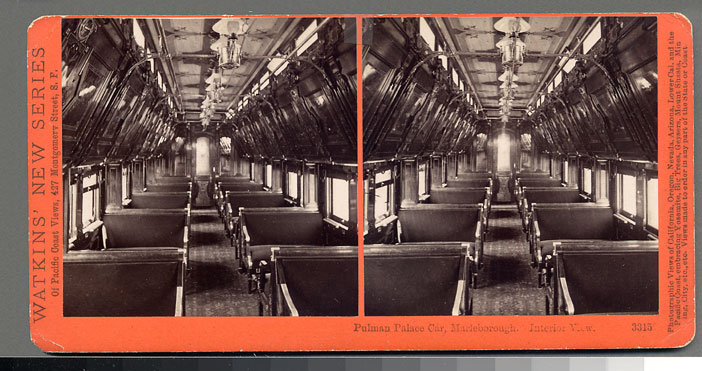 Watkins #3315 - Pullman Palace Car Marleborough, interior view.