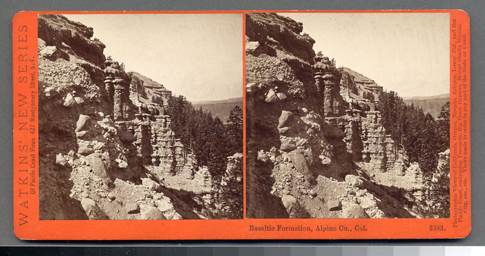 Watkins #3383 - Basaltic Formation, Alpine County, Cal.