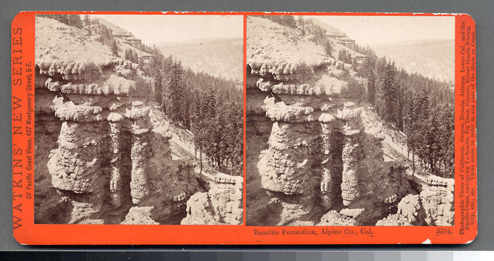 Watkins #3384 - Basaltic Formation, Alpine County, Cal.