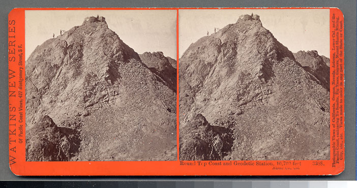 Watkins #3388 - Round Top, Coast and Geodetic Station, 10,700 ft., Alpine County, Cal.