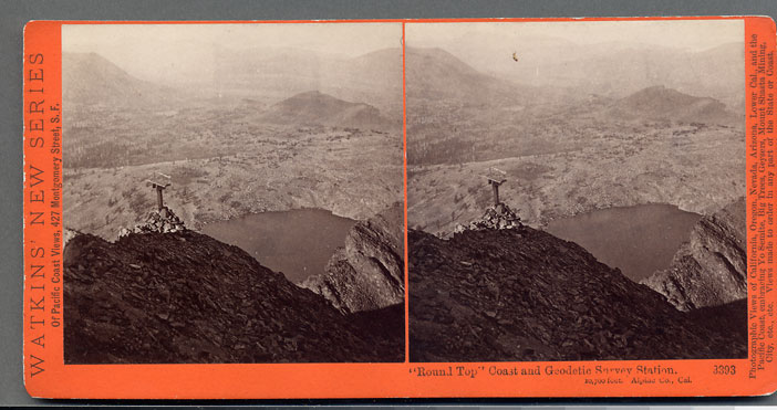 Watkins #3393 - Round Top, Coast and Geodetic Station, 10,700 ft., Alpine County, Cal.
