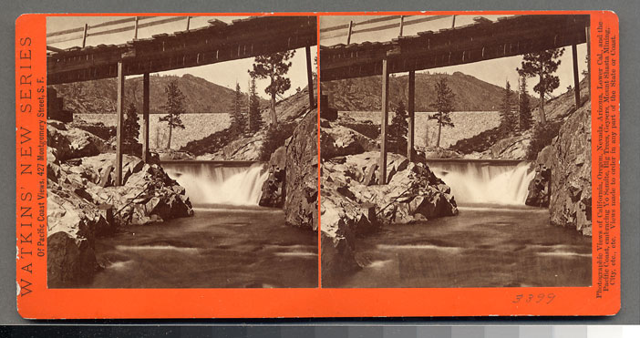 Watkins #3399 - Boorman Dam, North Bloomfield Mining Co., Nevada Co., Cal.