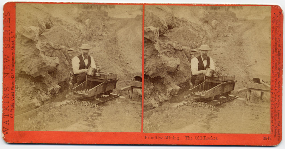 Watkins #3542 - Primitive Mining.  The Old Rocker