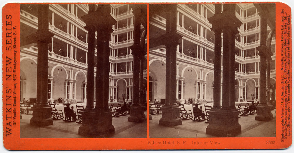 Watkins #3555 - Palace Hotel, Interior View, San Francisco.