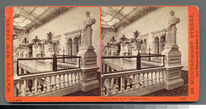 Watkins #3562 - Palace Hotel, Interior View, San Francisco.