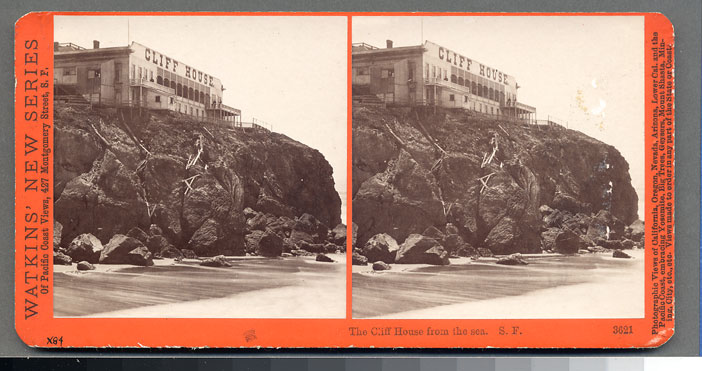 Watkins #3621 - The Cliff House from the Sea, San Francisco.