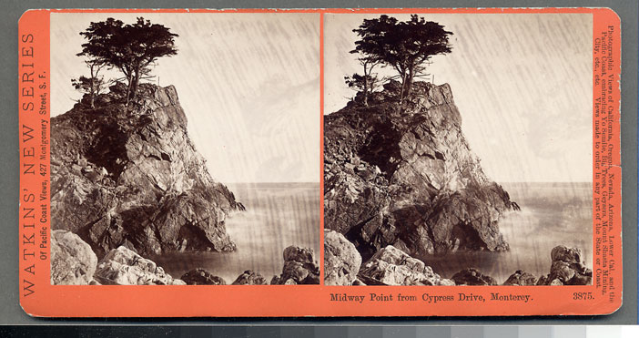 Watkins #3875 - Midway Point from Cypress Drive, Monterey, Cal.