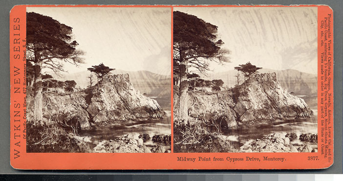 Watkins #3877 - Midway Point from Cypress Drive, Monterey, Cal.