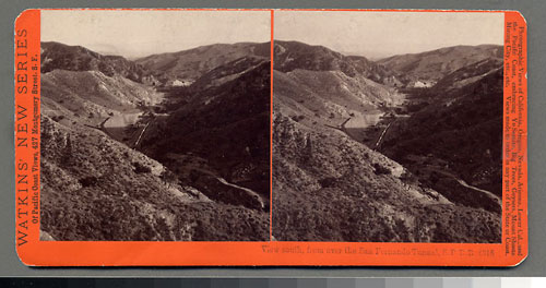 #4318 - View south from the San Fernando Tunnel, S.P.R.R., Cal.