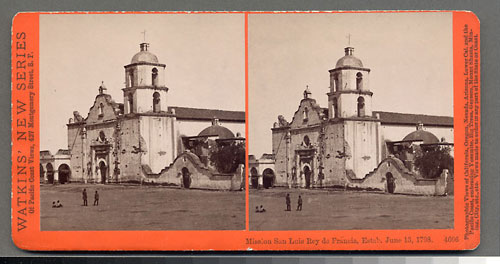 #4606 - Mission San Luis Rey de Francia, Estab. June 13, 1798, Cal.
