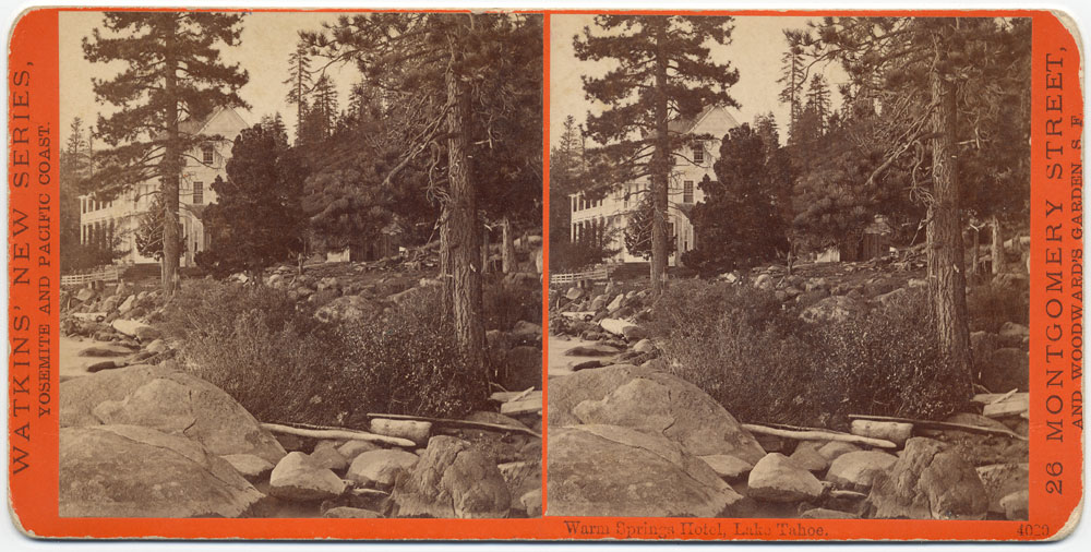 Watkins #4020 - Warm Springs Hotel, Lake Tahoe.