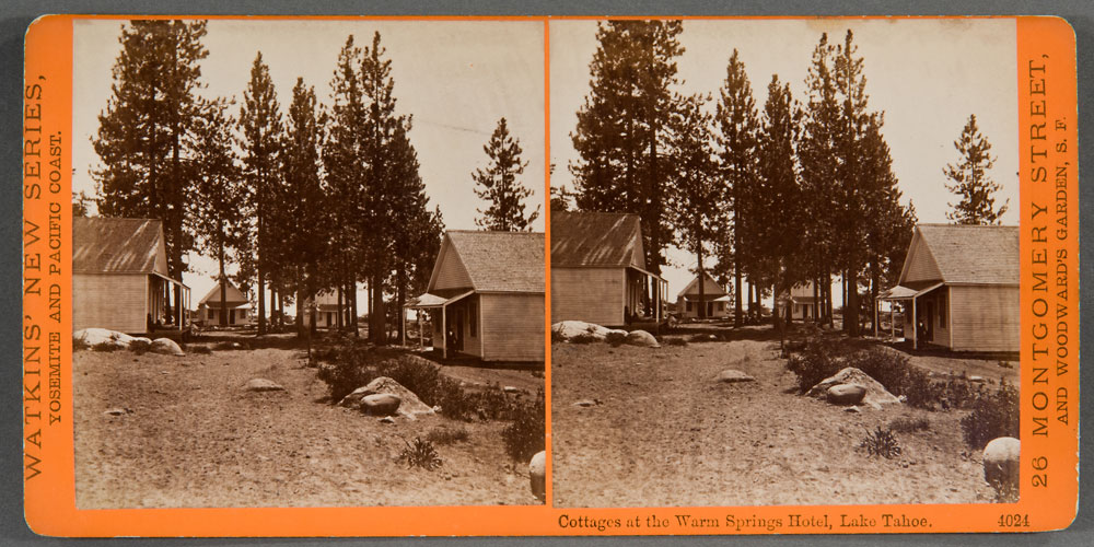 Watkins #4024 - Cottages at the Warm Springs Hotel, Lake Tahoe.